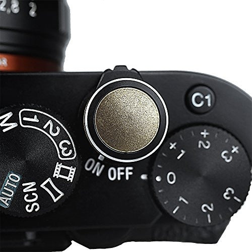 Haoge Metal Shutter Release Button for Sony RX1 RX1R I II RX10 I II III IV for Nikon Nikomat Nikkormat FM FM2 FM2//T FM2N FM3A FE FE2 EL ELW EL2 FT FTN FT2 FT3 FA FS EM Film Camera Concave Red