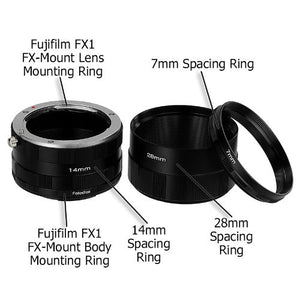 Fotodiox Macro Extension Tube Set for Fujifilm X-Series Mirrorless Cameras for Extreme Close-up Photography