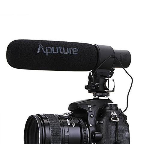Aputure V-Mic D2 - Sensitivity Adjustable Directional Condenser Shotgun Microphone