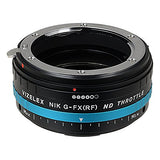 Nikon F-Mount G-type SLR Lens to Fujifilm X-Series (FX) Mount Camera Body Adapter