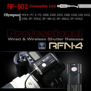 SMDV RFN-4 Wireless Remote Shutter Release Cable for Cameras