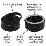 Fotodiox Macro Extension Tube Set for Sony Alpha A-Mount (and Minolta AF) Mount SLR Cameras for Extreme Close-up Photography