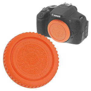 Fotodiox Designer Orange Body Cap for All Canon EOS EF & EF-s Cameras