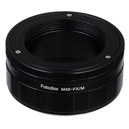 Fotodiox Pro Lens Mount Macro Adapter - M42 Screw Mount SLR Lens to Fujifilm Fuji X-Series Mirrorless Camera Body with Built-In Aperture Control Dial and Variable Close Focus