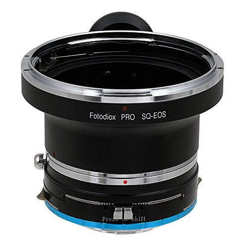 Fotodiox Pro Lens Mount Shift Adapter - Bronica SQ Mount SLR Lens to Fujifilm Fuji X-Series Mirrorless Camera Body