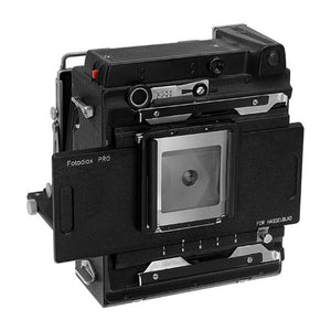 Fotodiox Pro Lens Mount Adapter - Hasselblad V-Mount Film Backs to Large Format 4x5 View Cameras with a Graflok Rear Standard - Shift / Stitch Adapter with Focusing Screen