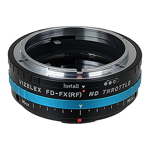 Vizelex ND Throttle Lens Mount Adapter - Canon FD & FL 35mm SLR lens to Fujifilm Fuji X-Series Mirrorless Camera Body, with Built-In Variable ND Filter (1 to 8 Stops)