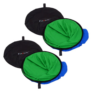 Fotodiox Collapsible 5x7ft Portable Chromakey Blue/Green Muslin Background