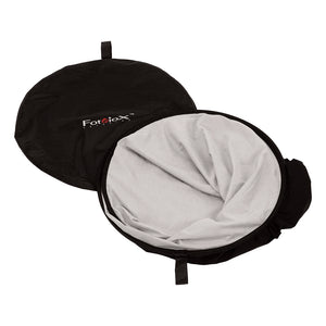 Fotodiox Collapsible 5x7ft Portable Black/White Muslin Background