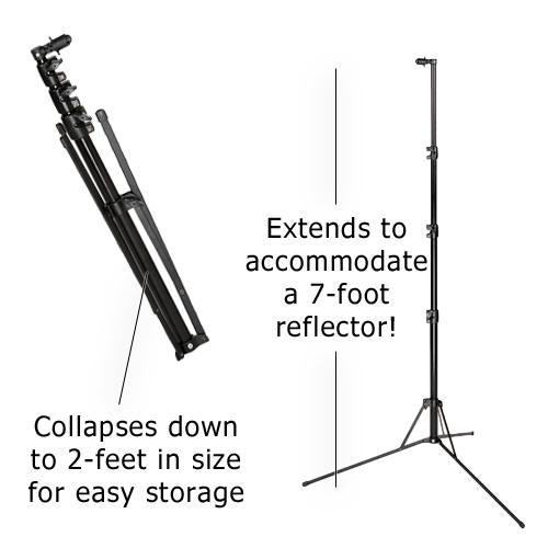 Fotodiox 2.1m Reflector / Background Stand w/ Clamp