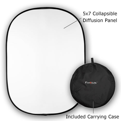 Fotodiox Collapsible 5x7 Diffuser Pro, Premium Grade Collapsible Diffusion Disc