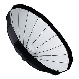 "Pro Studio Solutions EZ-Pro 48"" (120cm) Beauty Dish and Softbox Combination with Multiblitz V Speedring for Multiblitz V, Varilux, and Compatible"