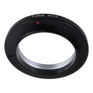 Fotodiox Lens Adapter - Compatible with M42 Screw Mount SLR Lenses to Olympus 4/3 (OM4/3) Mount DSLR Cameras
