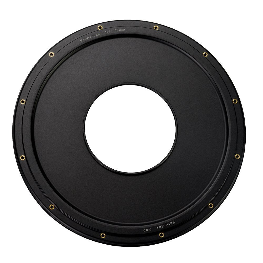 WonderPana XL 186mm Step-Up Ring - Anodized Black Metal Aluminum Step Up Ring for 77mm Lens Threads to 186mm WonderPana XL Round Filters