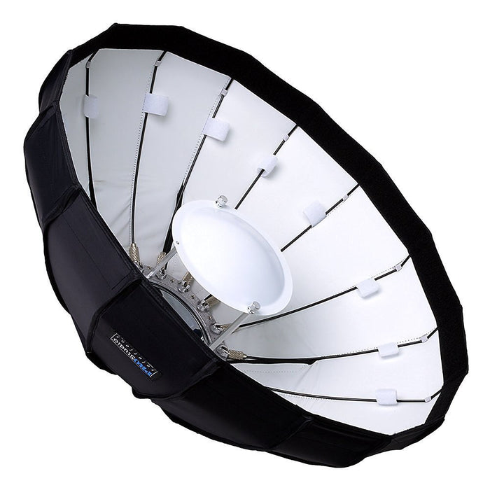 Pro Studio Solutions EZ-Pro Beauty Dish and Softbox Combination with Elinchrom Speedring for Elinchrom, Calumet Genesis, and Compatible - Quick Collapsible, Soft White Interior, with Double Diffusion Panels