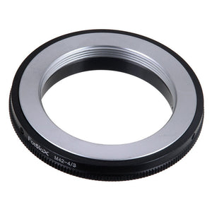 Fotodiox Lens Mount Adapter - M42 Screw Mount SLR Lens to Olympus 4/3 (OM4/3 or 4/3) Mount Mirrorless Camera Body