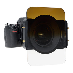 "Fotodiox Pro 6.6x8.5"" Sepia Colored Graduated Density .6 (2-Stop) Soft Edge Filter (works with WonderPana 66 Systems)"