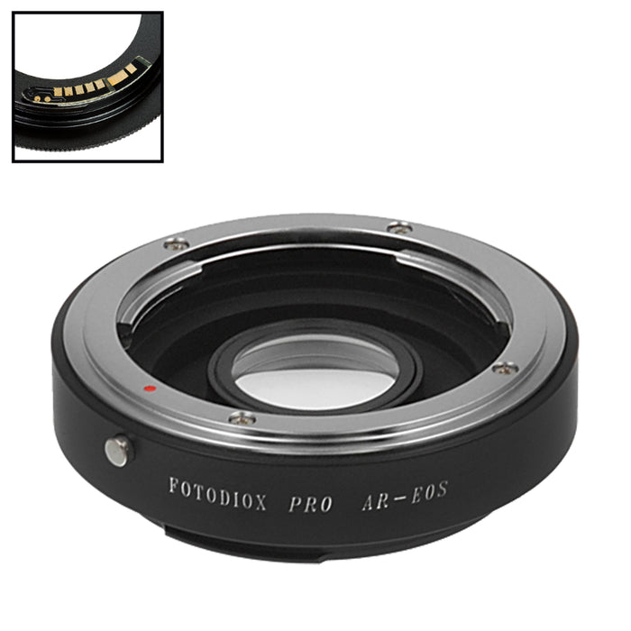 Fotodiox Pro Lens Mount Adapter Compatible with Konica Auto-Reflex (AR) SLR Lens to Canon EOS (EF, EF-S) Mount SLR Camera Body - with Generation v10 Focus Confirmation Chip