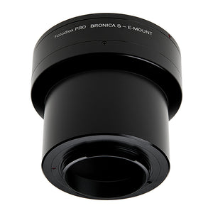 Fotodiox Pro Lens Mount Adapter - Compatible with Bronica S Mount Lens to Sony Alpha E-Mount Mirrorless Camera Body