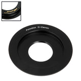 Fotodiox Lens Mount Adapter Compatible with C-Mount CCTV / Cine Lens to Canon EOS (EF, EF-S) Mount SLR Camera Body - with Generation v10 Focus Confirmation Chip