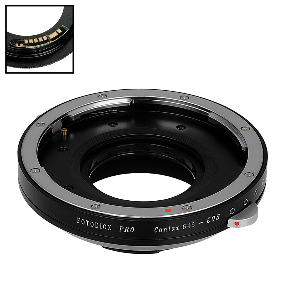 Fotodiox Pro Lens Mount Adapter Compatible with Contax 645 (C645) Mount  Lenses to Canon EOS (EF, EF-S) Mount SLR Camera Body - with Generation v10