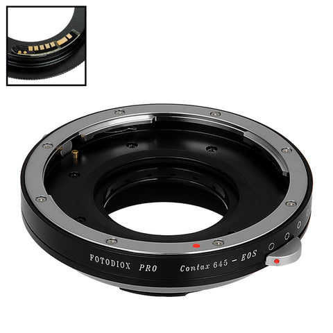 Fotodiox Pro Lens Mount Adapter Compatible with Contax 645 (C645) Mount Lenses to Canon EOS (EF, EF-S) Mount SLR Camera Body - with Generation v10 Focus Confirmation Chip and Built-In Aperture Iris