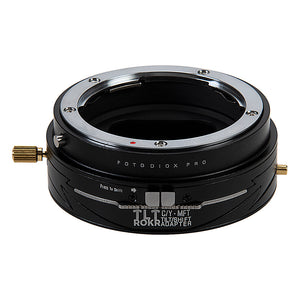 Fotodiox Pro TLT ROKR - Tilt / Shift Lens Mount Adapter Compatible with Contax/Yashica (CY) SLR Lenses to Micro Four Thirds (MFT, M4/3) Mount Mirrorless Camera Body