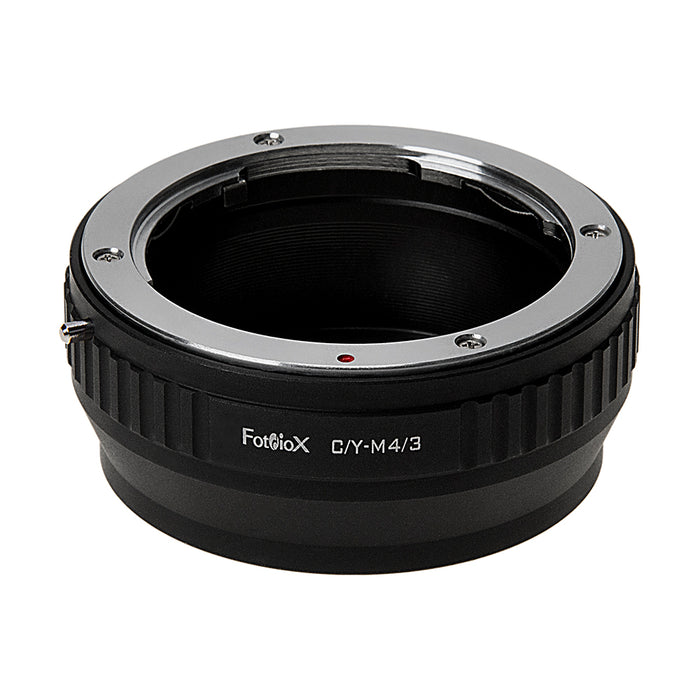 Fotodiox Lens Mount Adapter - Contax/Yashica (CY) SLR Lens to Micro Four Thirds (MFT, M4/3) Mount Mirrorless Camera Body
