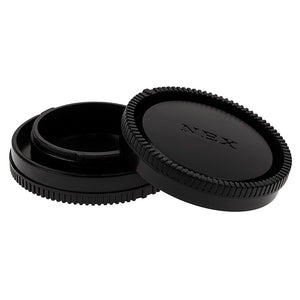 Fotodiox Camera Body & Rear Lens Cap Set for All Sony Alpha E-Mount Compatible Cameras & Lenses
