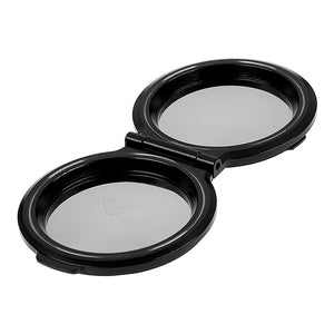 Fotodiox Pro Lens Cap for Rollei TLR Camera with Bay III (B3) f2.8 Take Lens - Set of 2, Reflective Finish, fits Twin Lens Rollei (TLR) Bay III Mount, 2.8 B/C/D/E/F/GX/FX (Biometer, Planar, Xenotar, Sonnar) Lenses