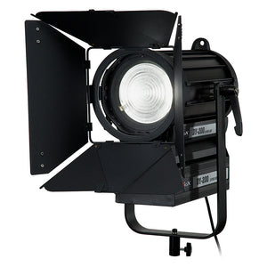 Fotodiox Pro DY-200 Daylight Fresnel LED, High-Intensity LED Fresnel Light for Film & Television - with Remote Dimmable and Focusable Control, 12V AC Power Adapter, Light Stand bracket and Removable Barndoors
