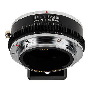Vizelex ND Throttle Fusion Smart AF Lens Adapter - Canon EOS (EF / EF-S) Lens to Canon RF Mount Mirrorless Cameras with Full Automated Functions and Built-In Variable ND Filter (2 to 8 Stops)