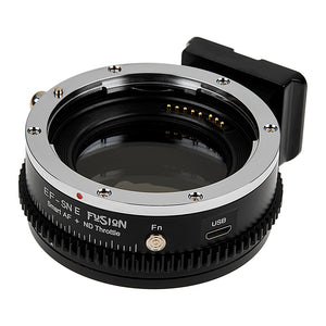 Fusion Cine ND Throttle Smart AF Lens Adapter - Compatible with Canon EOS EF (NOT EF-S) Lenses to Sony E-Mount Cameras - Auto Functions, USB Upgradable, Built-In Variable ND Filter & Lens Calibration