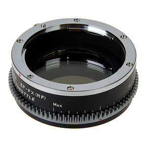 Vizelex Cine ND Throttle Lens Mount Adapter - Canon EOS (EF / EF-S) D/SLR Lens to Fujifilm Fuji X-Series Mirrorless Camera Body with Built-In Variable ND Filter (1 to 8 Stops)