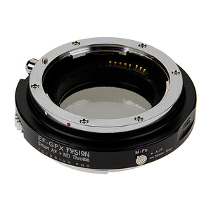 Vizelex Cine ND Throttle Fusion Smart AF Lens Adapter - Compatible with Canon EOS (EF) D/SLR Lenses to Fujifilm Fuji G-Mount GFX Mirrorless Cameras with Full Automated Functions and Built-In Variable ND Filter (1 to 8 Stops)