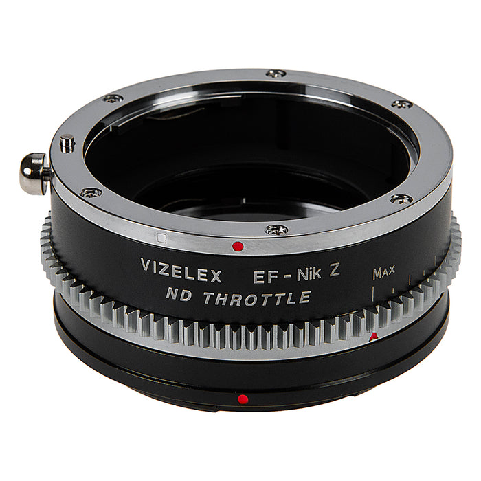 Vizelex Cine ND Throttle Lens Mount Adapter from Fotodiox Pro Compatible with Canon EOS (EF / EF-S) D/SLR Lenses to Nikon Z-Mount Mirrorless Camera Body with Built-In Variable ND Filter (ND2-ND1000)