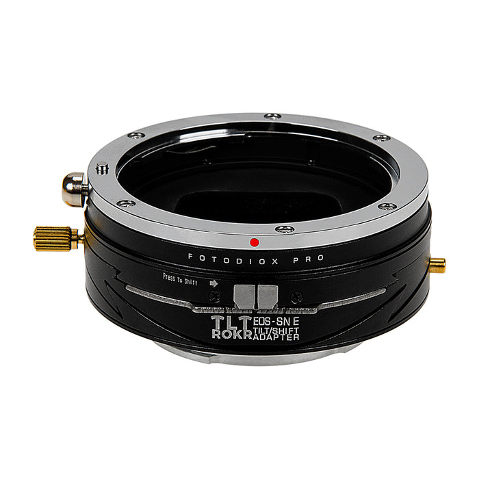 Fotodiox Pro TLT ROKR - Tilt / Shift Lens Mount Adapter Compatible with Canon EOS (EF / EF-S) D/SLR Lenses to Sony Alpha E-Mount Mirrorless Camera Body