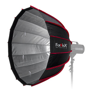 Fotodiox EZ-Pro DLX Parabolic Softbox with Elinchrom Speedring - Quick Collapsible Softbox with Silver Reflective Interior with Double Diffusion