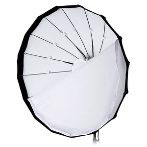 Pro Studio Solutions EZ-Pro Beauty Dish and Softbox Combination with Balcar Speedring for Balcar, Alien Bees, Einstein, White Lightning and Flashpoint I Stobes - Quick Collapsible, Soft White Interior, with Double Diffusion Panels