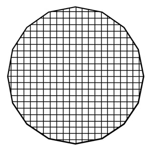 "Fotodiox Pro Eggcrate Grid for Deep EZ-Pro Parabolic Softboxes - Fits Deep EZ-Pro Parabolic Softbox - 50 Degree Grid (2x2x1.5"" Openings)"