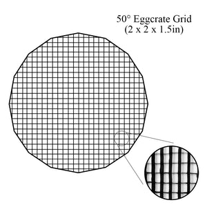 "Fotodiox Pro Eggcrate Grid for EZ-Pro DLX Parabolic Softboxes - Fits EZ-Pro DLX Parabolic Softbox - 50 Degree Grid (2x2x1.5"" Openings)"