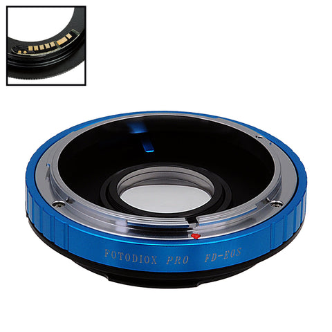 Fotodiox Pro Lens Mount Adapter Compatible with Canon FD & FL 35mm SLR lens to Canon EOS (EF, EF-S) Mount SLR Camera Body - with Generation v10 Focus Confirmation Chip and Built-In Aperture Control Dial