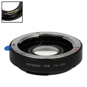 Fotodiox Pro Lens Mount Adapter Compatible with Fuji Fujica X-Mount 35mm (FX35) SLR Lens to Canon EOS (EF, EF-S) Mount SLR Camera Body - with Generation v10 Focus Confirmation Chip