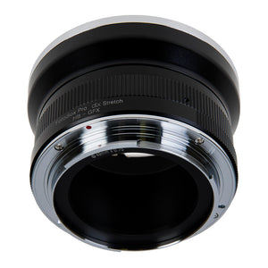 Fotodiox DLX Stretch Lens Adapter - Compatible with Hasselblad V-Mount SLR Lenses to Fujifilm G-Mount Digital Camera Body with Macro Focusing Helicoid and 49mm Filter Threads