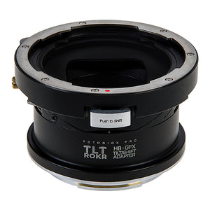 Fotodiox Pro TLT ROKR Lens Adapter - Compatible with Hasselblad V-Mount SLR Lenses to Fujifilm G-Mount Digital Cameras with Built-In Tilt / Shift Movements