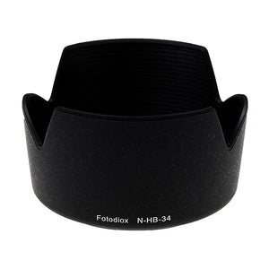 Fotodiox Lens Hood Replacement for HB-34 Compatible with Nikon AF-S DX VR Zoom-Nikkor 55-200mm f/4-5.6G IF-ED (3.6x) Lens