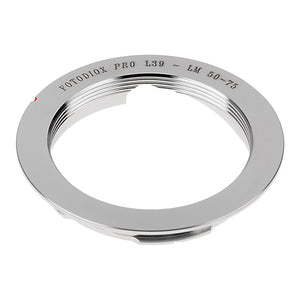 Fotodiox Pro Lens Mount Adapter - L39/LTM (x0.977 Pitch) Leica Thread Mount Lens to Leica M Mount Rangefinder Camera Body with Leica 6-Bit M-Coding with 50mm/75mm Frame Line