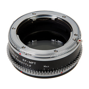 Vizelex Cine ND Throttle Lens Mount Double Adapter - Leica R SLR & Canon EOS (EF, EF-S) Mount Lenses to Micro Four Thirds (MFT, M4/3) Mount Mirrorless Camera Body, with Built-In Variable ND Filter (1 to 8 Stops)