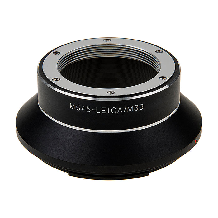 Fotodiox Pro Lens Adapter - Compatible with L39 Leica Visoflex Screw Mount Lenses to Mamiya 645 (M645) Mount Cameras