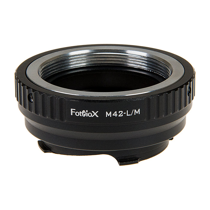 Fotodiox Lens Adapter with Leica 6-Bit M-Coding - Compatible with M42 Screw Mount SLR Lenses to Leica M Mount Rangefinder Cameras